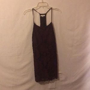 Strappy maroon dress